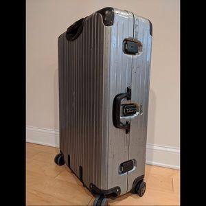 "Rimowa 33"" polycarbonate suitcase"